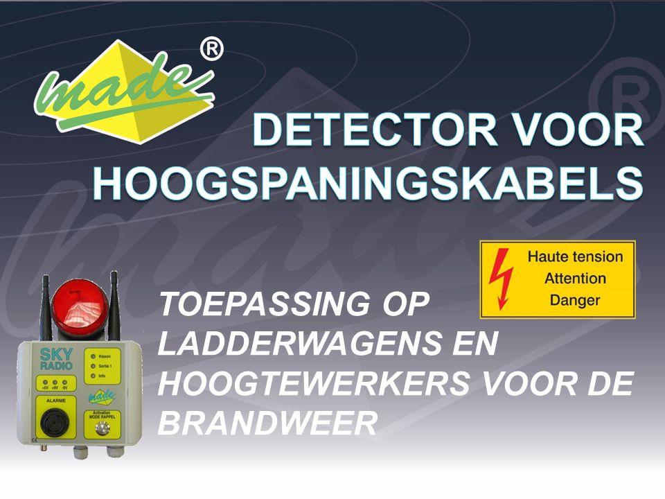 Detectie van hoogspanningskabels type A (>20kV) en type B (>50kV) gebasseerd op de het elektrisch veld dat wordt uitgezonden als gevolg van een spanning.