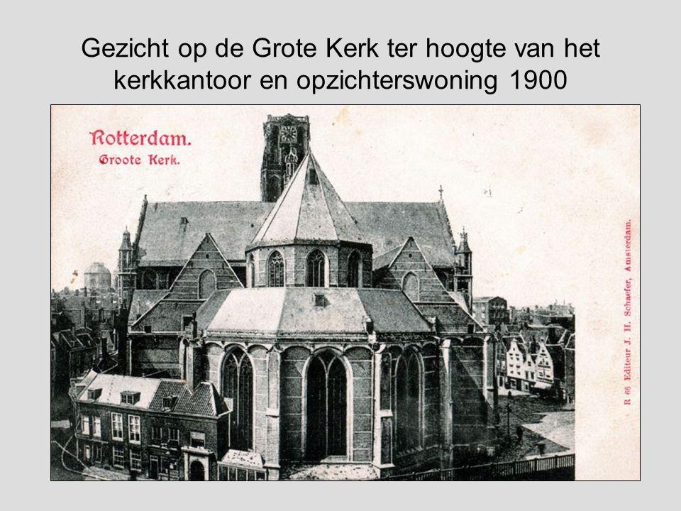 Gezicht op Delftse vaart met Laurenskerk op de achtergrond F.L. van Gulik (1841-1899)