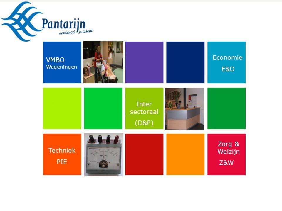 Zorg & Welzijn Z&W Techniek PIE Economie E&O Inter sectoraal (D&P) VMBO Wageningen
