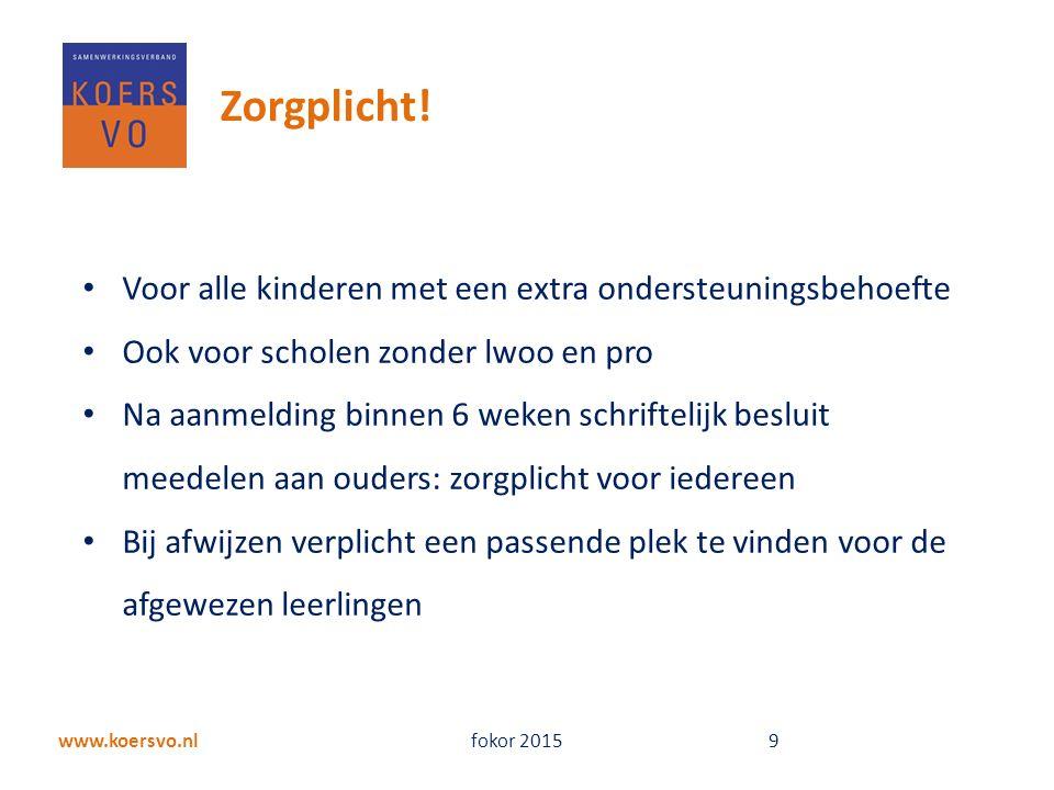 www.koersvo.nl fokor 2015 9 Zorgplicht.
