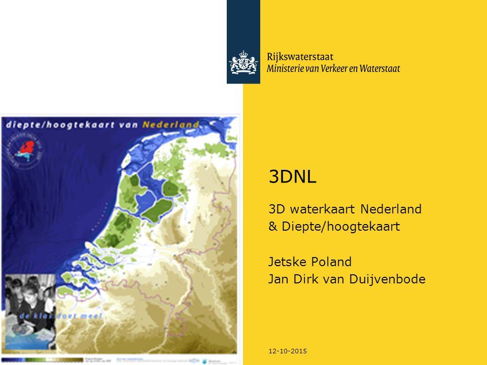 12-10-2015 3DNL 3D waterkaart Nederland & Diepte/hoogtekaart Jetske Poland Jan Dirk van Duijvenbode