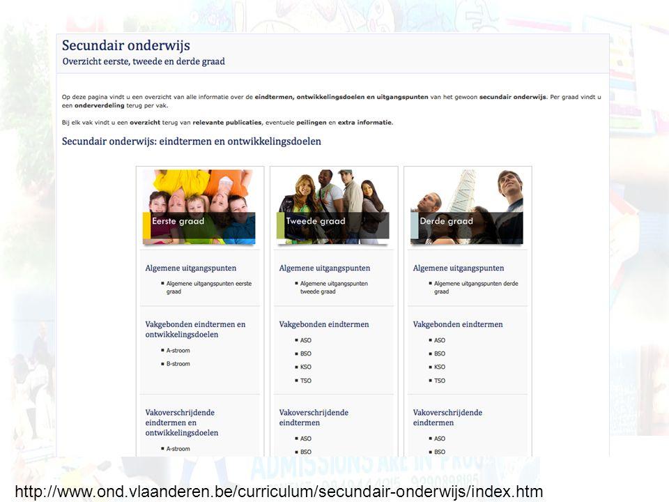http://www.ond.vlaanderen.be/curriculum/secundair-onderwijs/index.htm