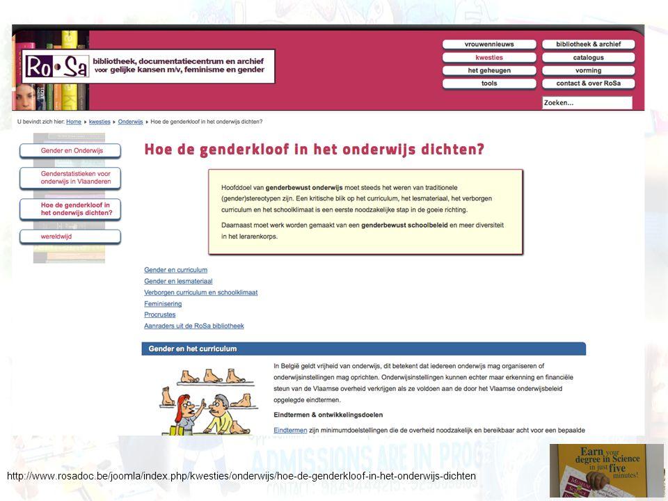 http://www.rosadoc.be/joomla/index.php/kwesties/onderwijs/hoe-de-genderkloof-in-het-onderwijs-dichten