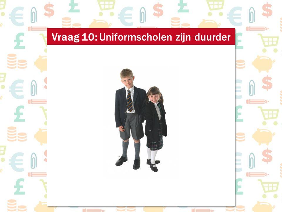 Vraag 10: Uniformscholen zijn duurder