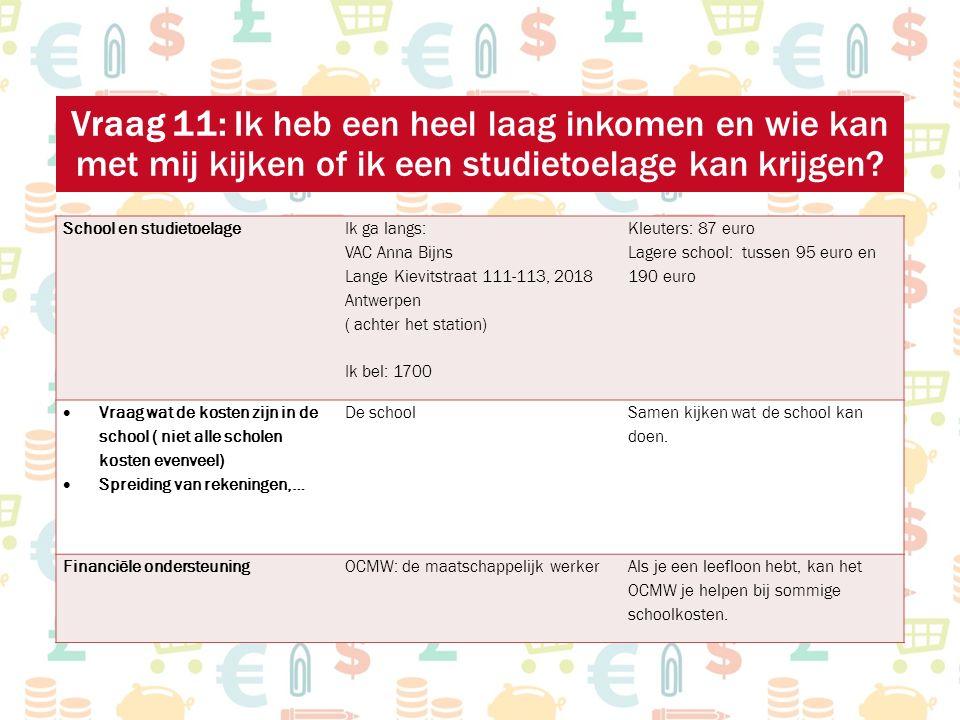 School en studietoelage Ik ga langs: VAC Anna Bijns Lange Kievitstraat 111-113, 2018 Antwerpen ( achter het station) Ik bel: 1700 Kleuters: 87 euro La