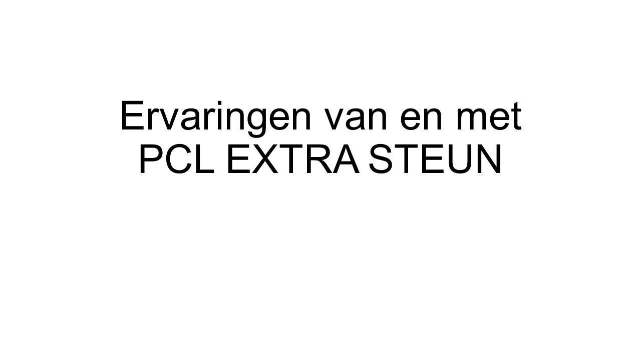 Ervaringen van en met PCL EXTRA STEUN