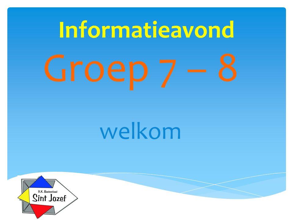Informatieavond Groep 7 – 8 welkom