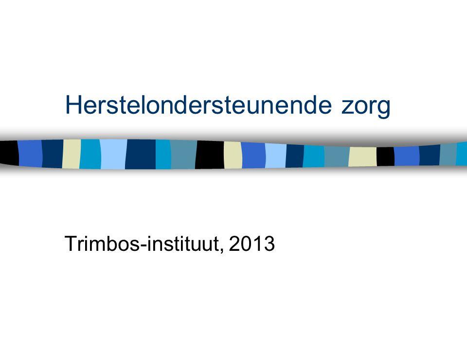 Herstelondersteunende zorg Trimbos-instituut, 2013