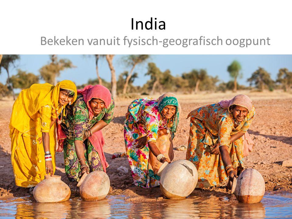 India is een land van contrasten De rivier de Ganges ontspringt op het hoogste gebergte ter wereld en stroomt daarna door een vlakte op zeeniveau.
