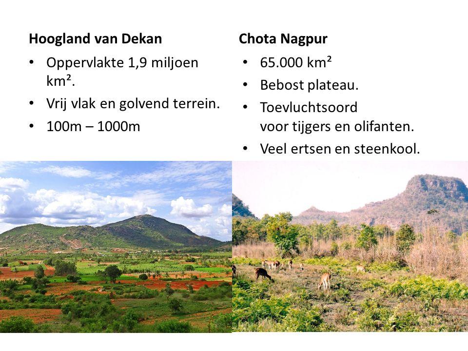 Hoogland van Dekan Oppervlakte 1,9 miljoen km².Vrij vlak en golvend terrein.