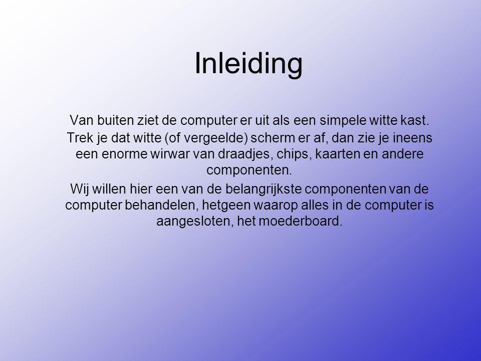 Inleiding Van buiten ziet de computer er uit als een simpele witte kast.