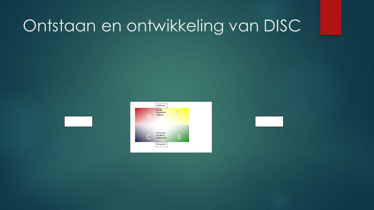 Ontstaan en ontwikkeling van DISC TakenMensen