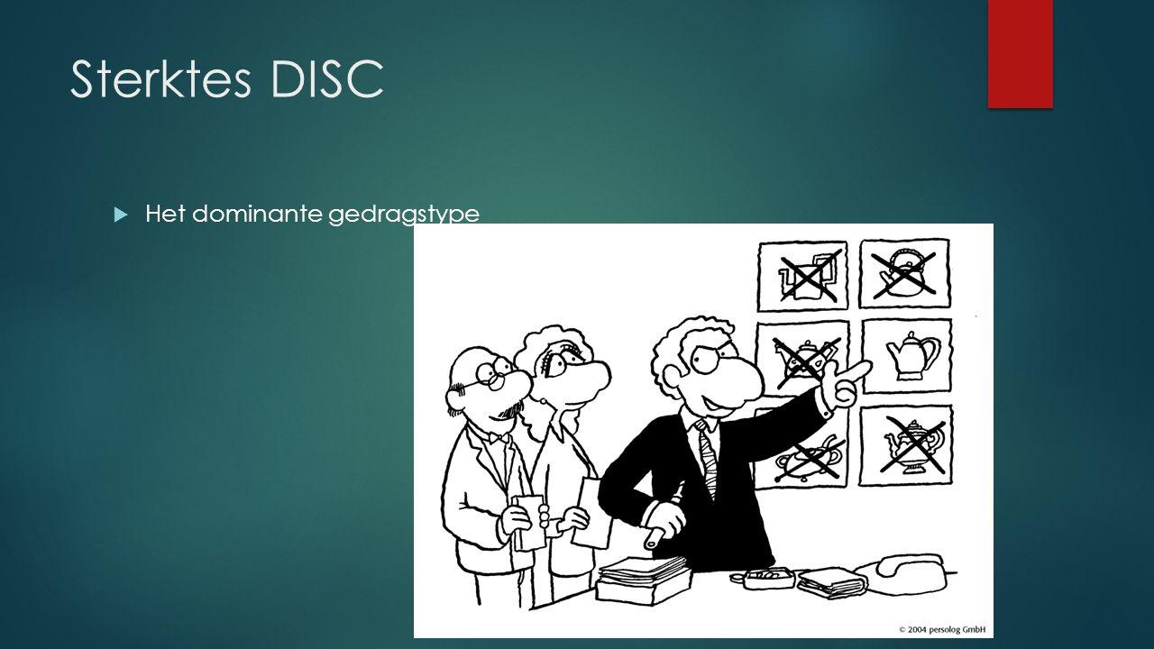Sterktes DISC  Het dominante gedragstype