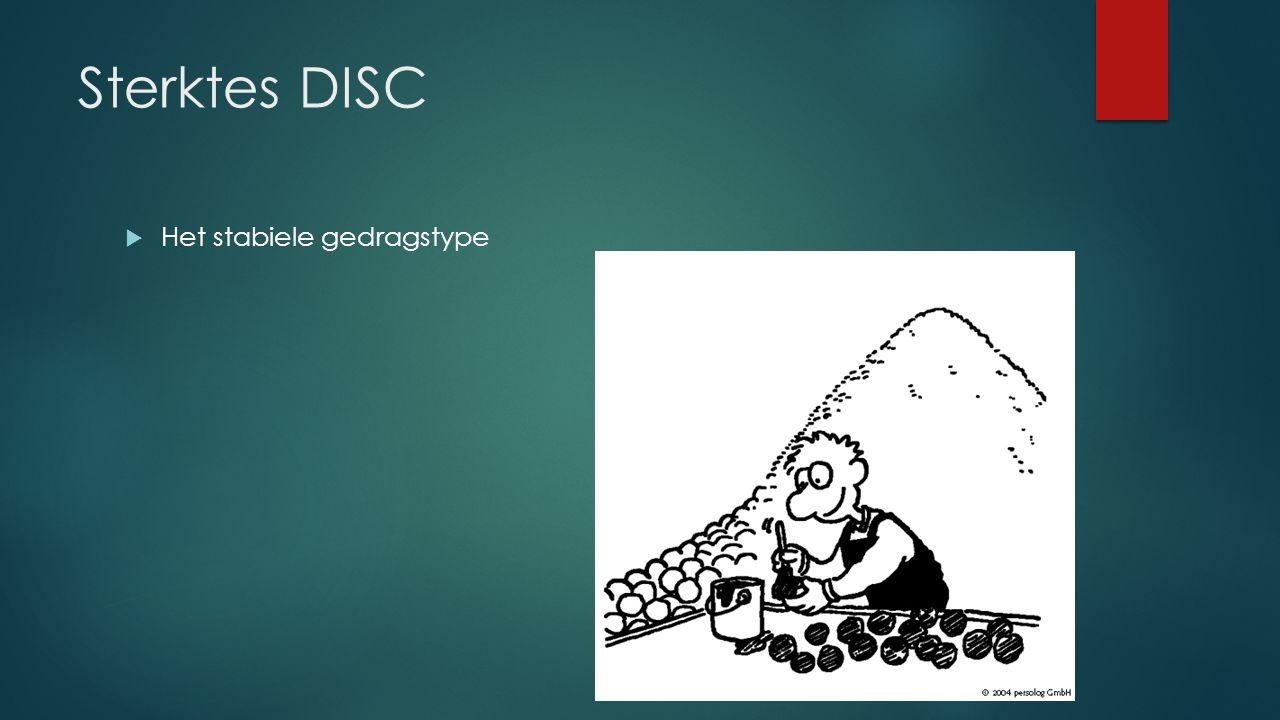 Sterktes DISC  Het stabiele gedragstype