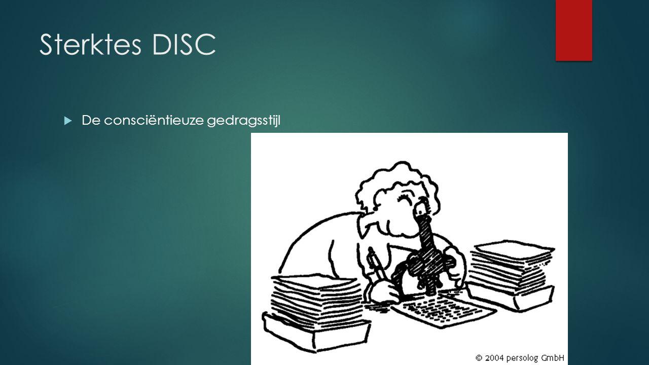 Sterktes DISC  De consciëntieuze gedragsstijl