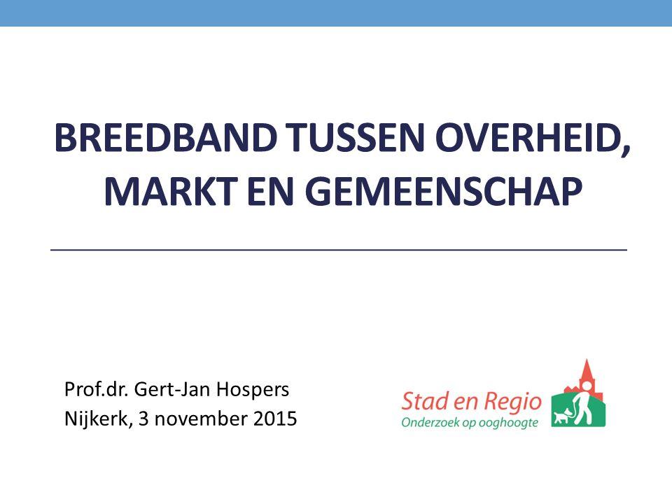 BREEDBAND TUSSEN OVERHEID, MARKT EN GEMEENSCHAP Prof.dr. Gert-Jan Hospers Nijkerk, 3 november 2015