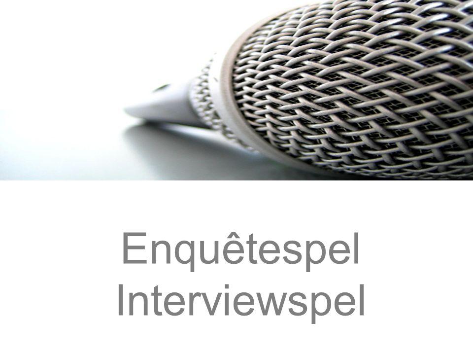 Enquêtespel Interviewspel