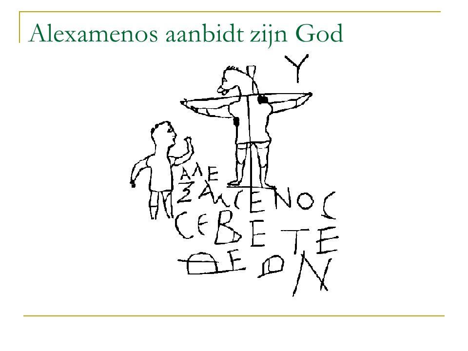 Alexamenos aanbidt zijn God