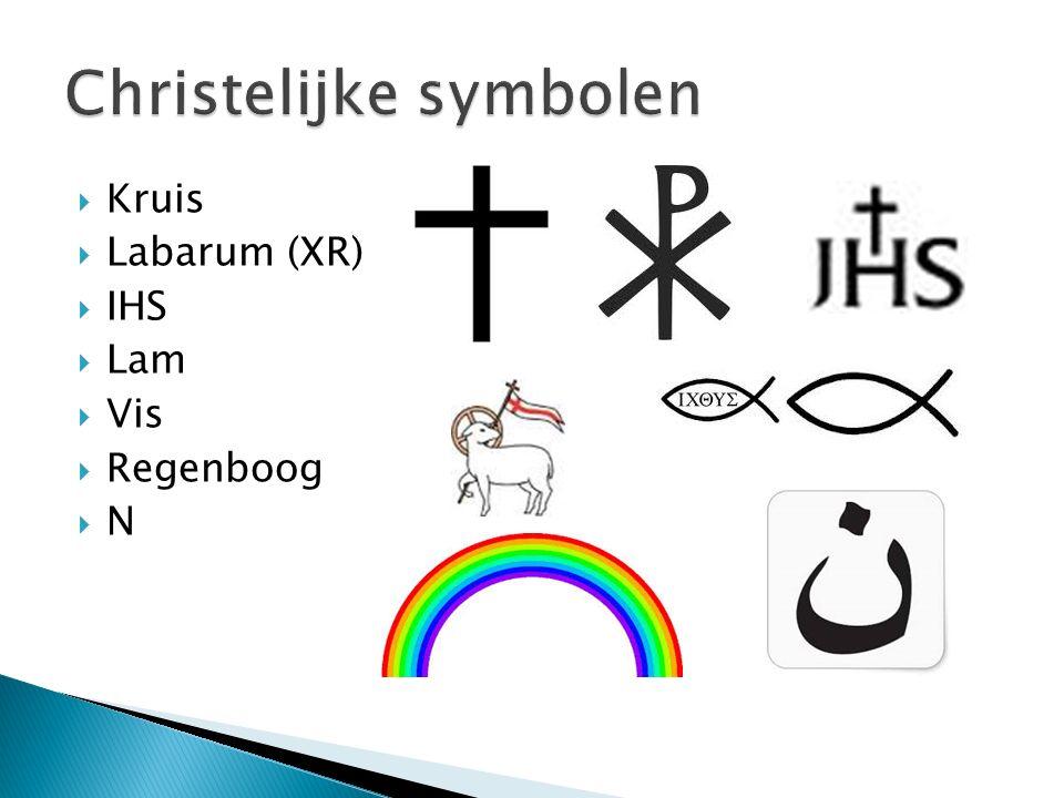  Kruis  Labarum (XR)  IHS  Lam  Vis  Regenboog NN