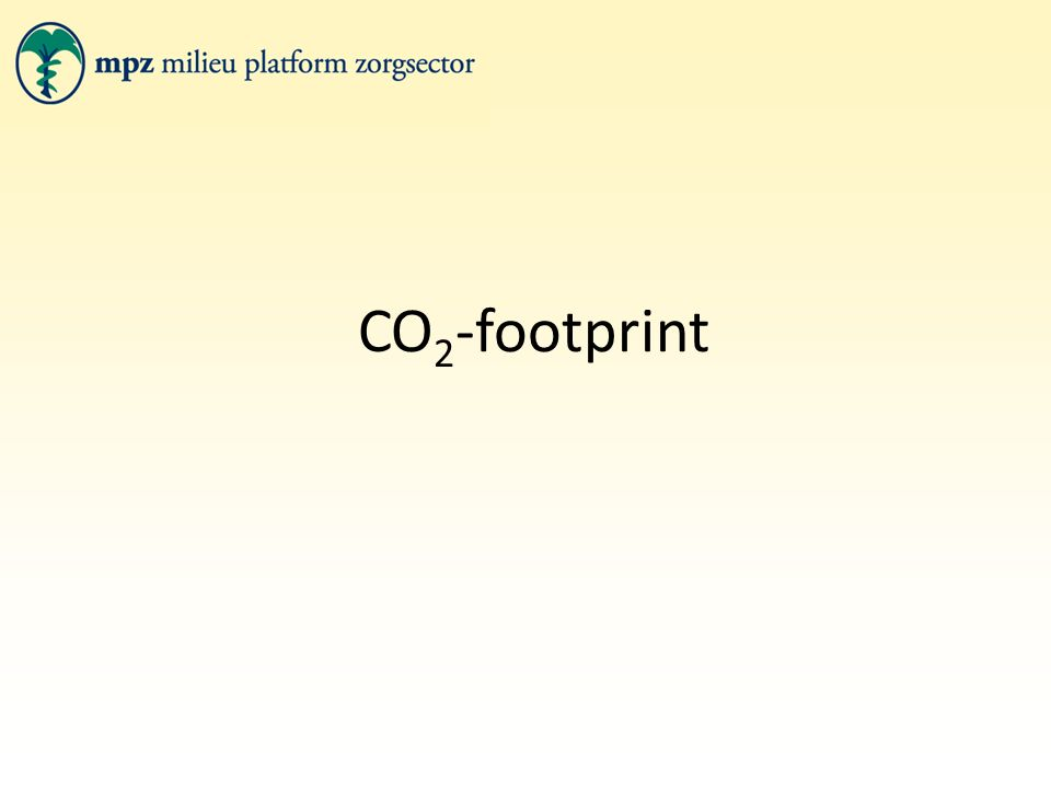 CO 2 -footprint