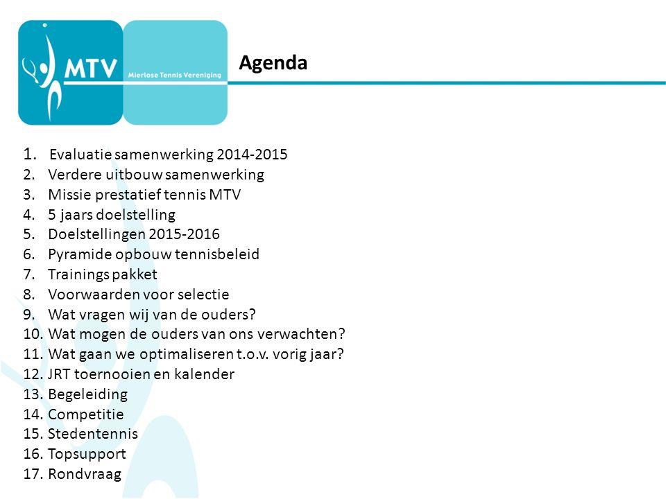 1. Evaluatie samenwerking 2014-2015