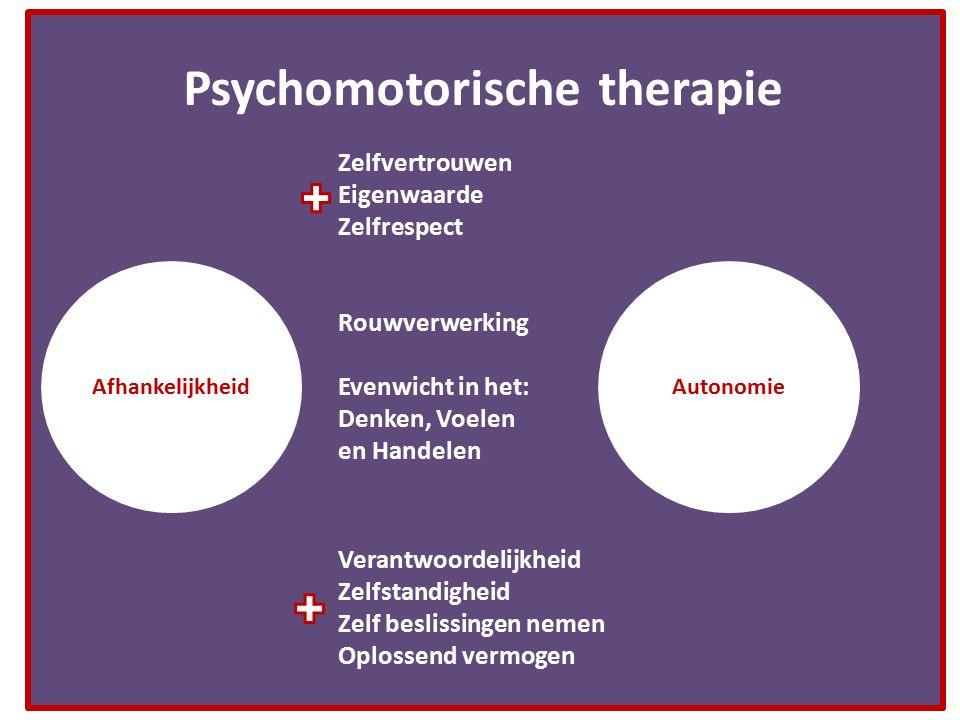 Psychomotorische therapie AutonomieAfhankelijkheid Zelfvertrouwen Eigenwaarde Zelfrespect Verantwoordelijkheid Zelfstandigheid Zelf beslissingen nemen