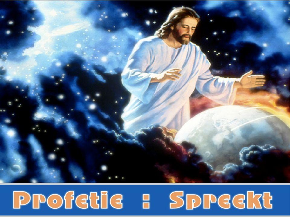 Profetie : Spreekt En dan zal het teken van de Zoon des mensen verschijnen aan de hemel en dan zullen alle stammen der aarde zich op de borst slaan en zij zullen de Zoon des mensen zien komen op de wolken des hemels, met grote macht en heerlijkheid. Matteus 24:30