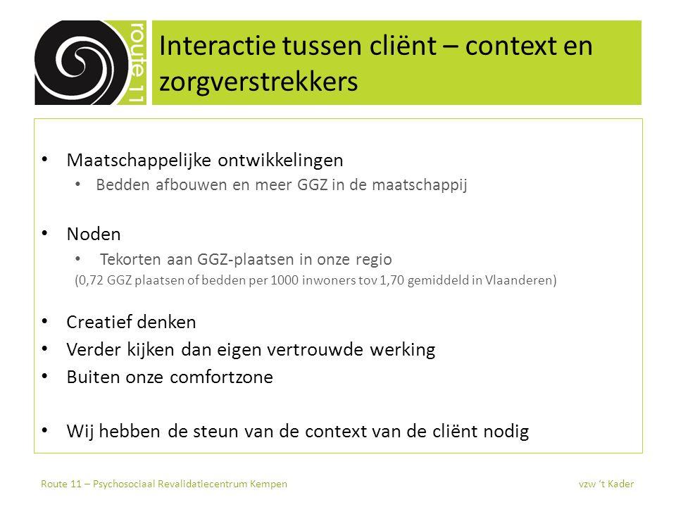 Route 11 Psychosociaal revalidatiecentrum Kempen, Route 11 (Turnhout) Nieuw team, nieuwe werking, nieuw centrum… carte blanche.