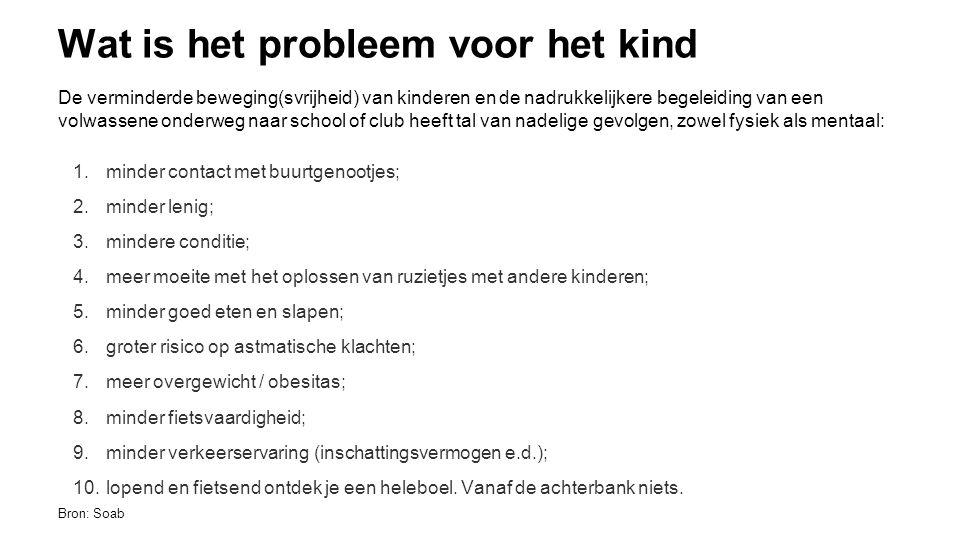 Wat is het probleem voor de maatschappij.