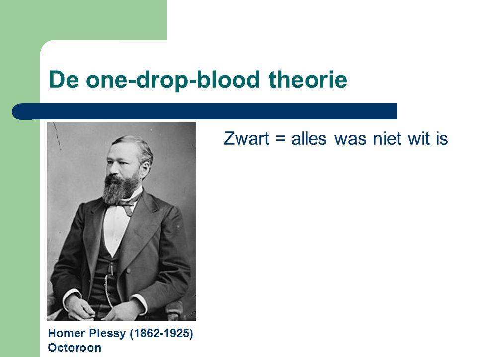 De one-drop-blood theorie Homer Plessy (1862-1925) Octoroon Zwart = alles was niet wit is