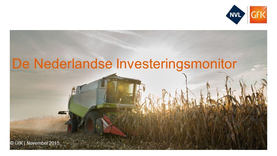 2© GfK   De Nederlandse Investeringsmonitor   November 2015 1.Investeringen Toekomst Verleden Investeringsbarometers 2.Financieringen Toekomst Verleden Financieringsbarometers 3.PR-vragen 4.Bijlagen Onderzoeksverantwoording Contact Inhoudsopgave