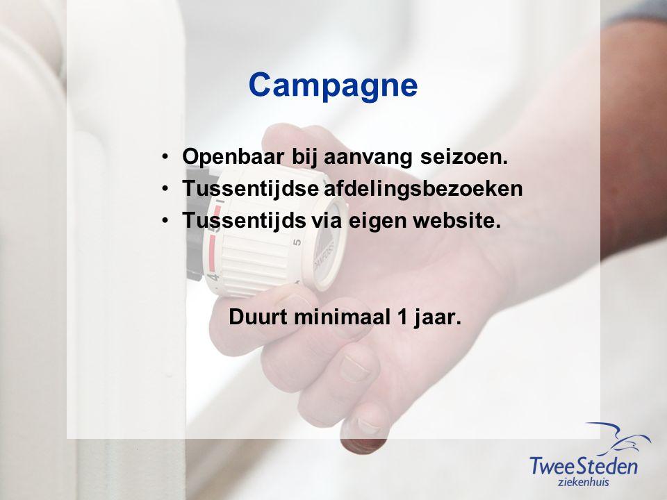 Campagne Openbaar bij aanvang seizoen.