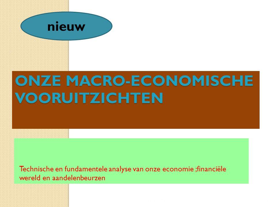 ONZE MACRO-ECONOMISCHE VOORUITZICHTEN Technische en fundamentele analyse van onze economie ;financiële wereld en aandelenbeurzen 11/12/20154 nieuw
