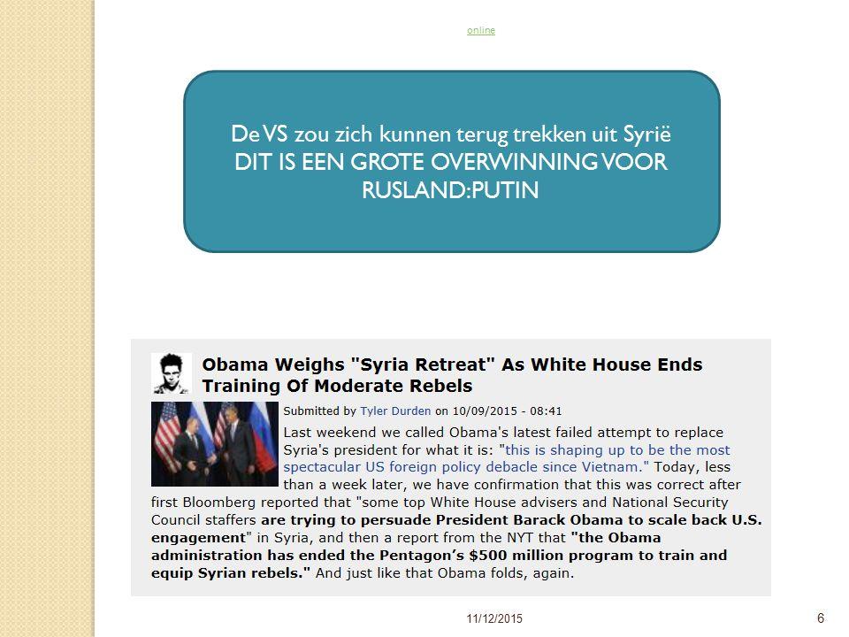 6 Read newsletter onlineRead newsletter online De VS zou zich kunnen terug trekken uit Syrië DIT IS EEN GROTE OVERWINNING VOOR RUSLAND:PUTIN