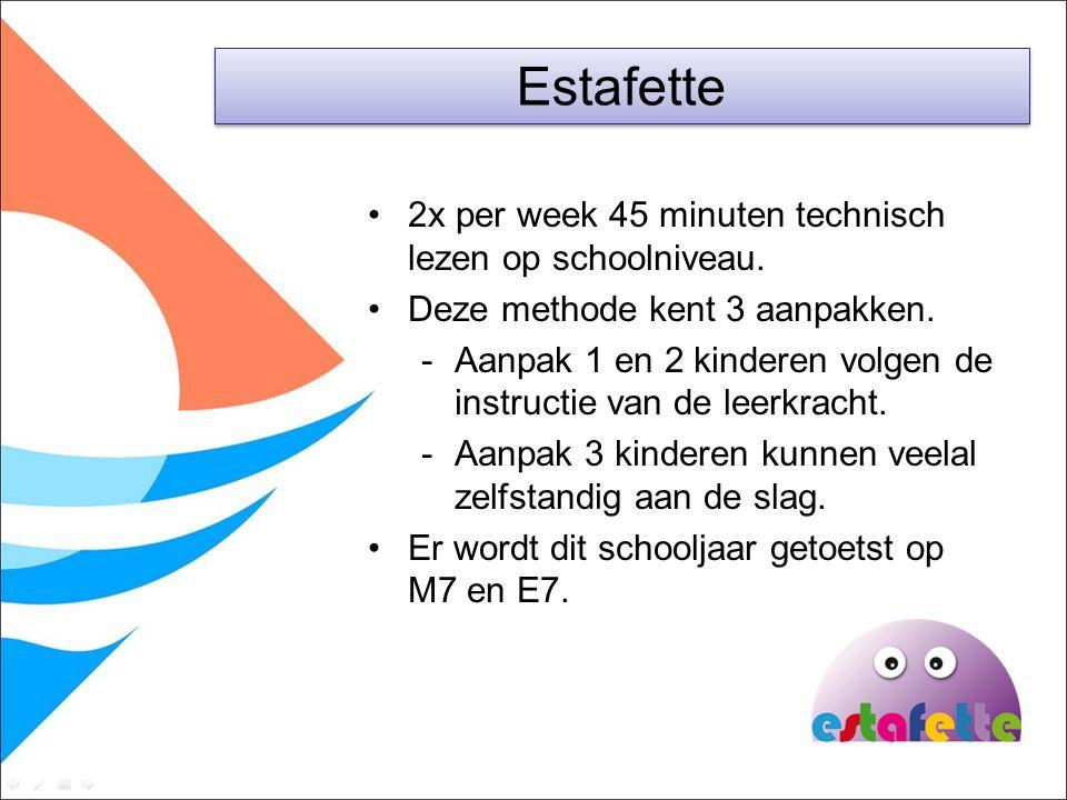 2x per week 45 minuten technisch lezen op schoolniveau. Deze methode kent 3 aanpakken. -Aanpak 1 en 2 kinderen volgen de instructie van de leerkracht.