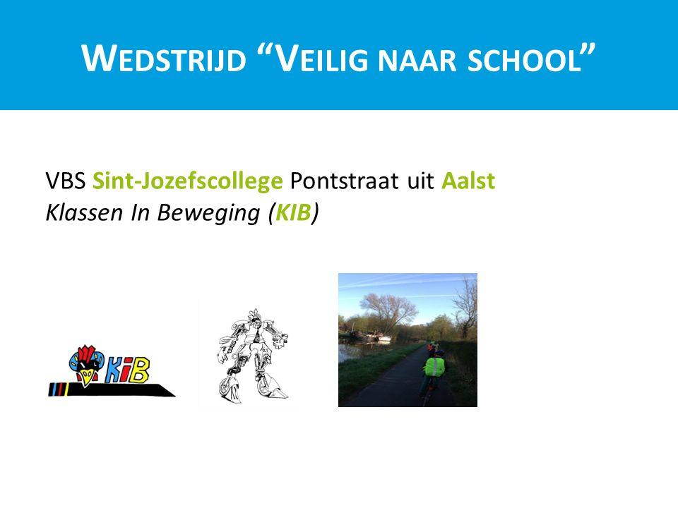 W EDSTRIJD V EILIG NAAR SCHOOL VBS Sint-Jozefscollege Pontstraat uit Aalst Klassen In Beweging (KIB)