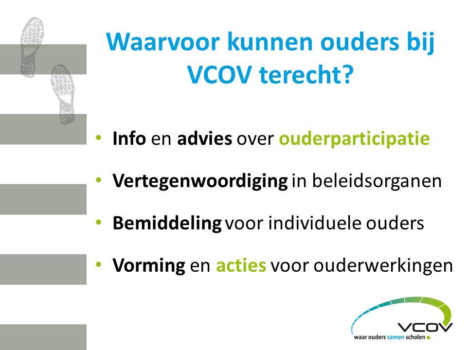 Waarvoor kunnen ouders bij VCOV terecht.