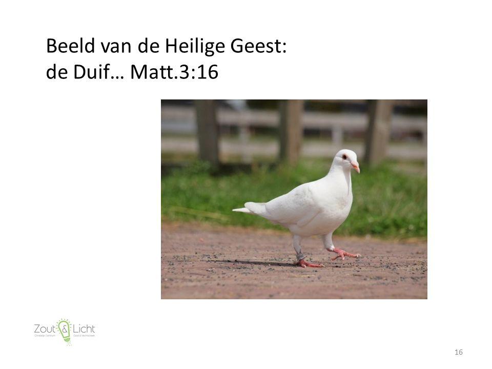 16 Beeld van de Heilige Geest: de Duif… Matt.3:16
