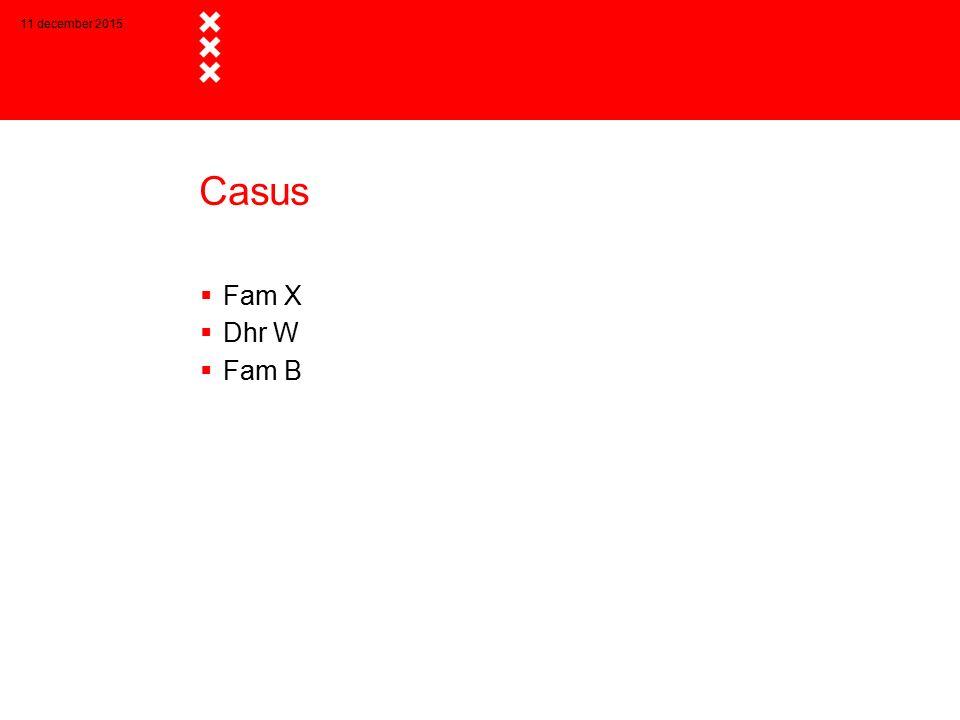 Casus  Fam X  Dhr W  Fam B 11 december 2015