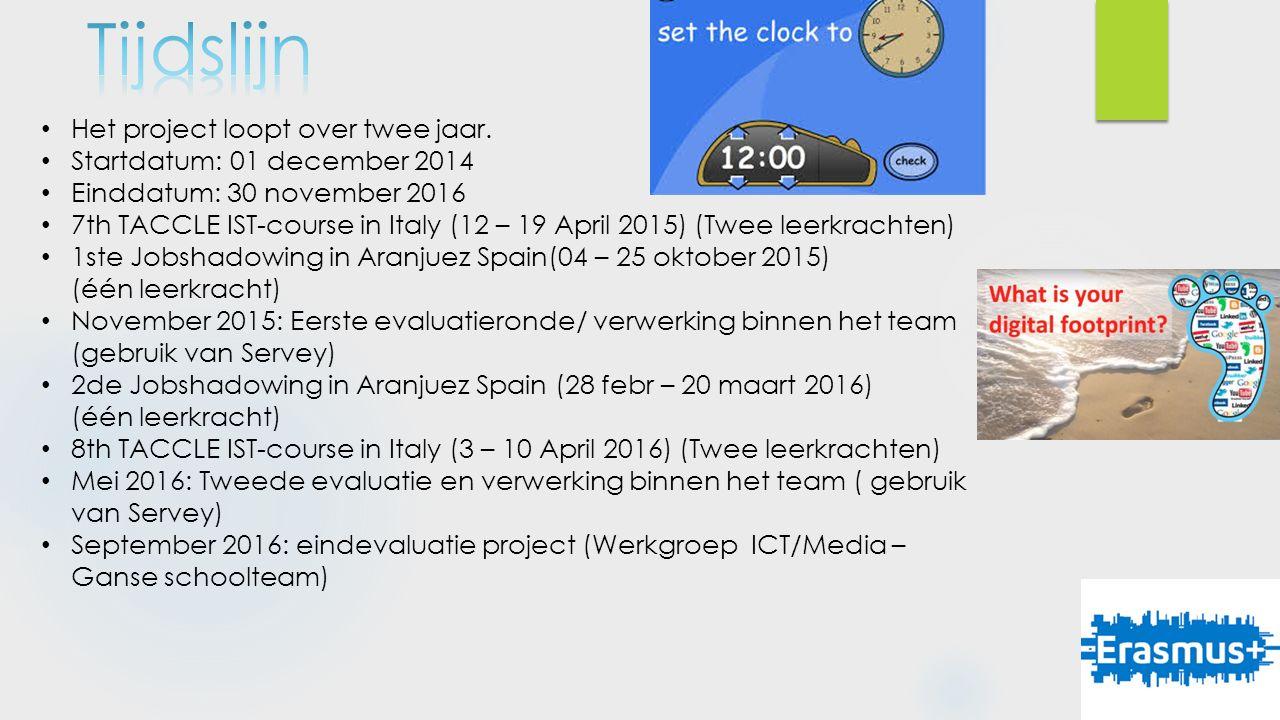 4 leerkrachten gaan op PDW naar Italië Volgen de Taclle 2 cursus in Fano Cursus bestaat uit : (professional development workshop) TACCLE IST COURSE 2016: Creating your own e-learning content in school education and adult education.