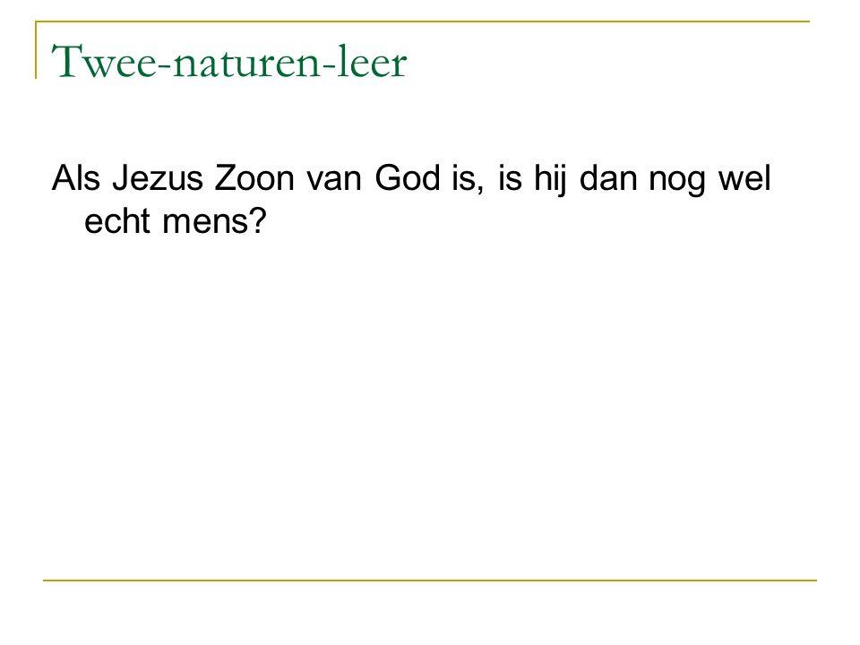 Twee-naturen-leer Als Jezus Zoon van God is, is hij dan nog wel echt mens