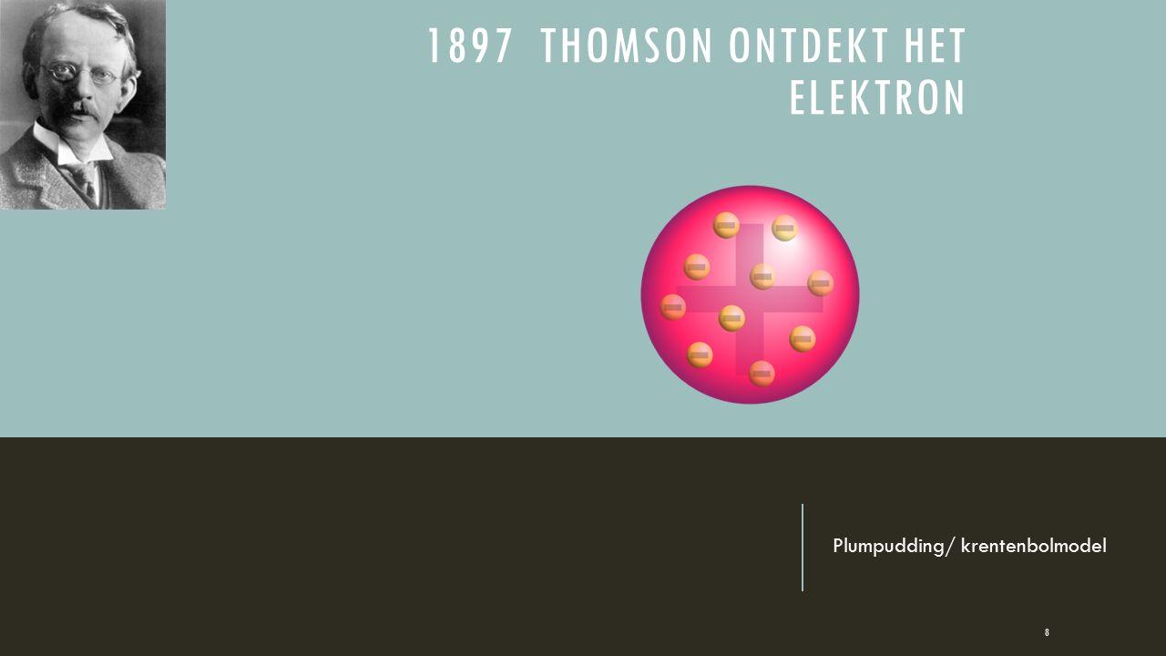 1897 THOMSON ONTDEKT HET ELEKTRON Plumpudding/ krentenbolmodel 8