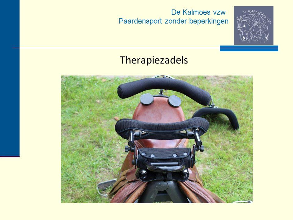 De Kalmoes vzw Paardensport zonder beperkingen Therapiezadels