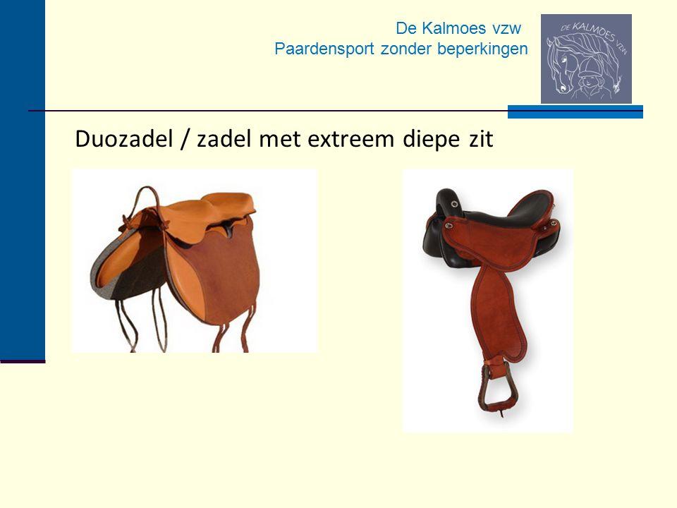 De Kalmoes vzw Paardensport zonder beperkingen Duozadel / zadel met extreem diepe zit