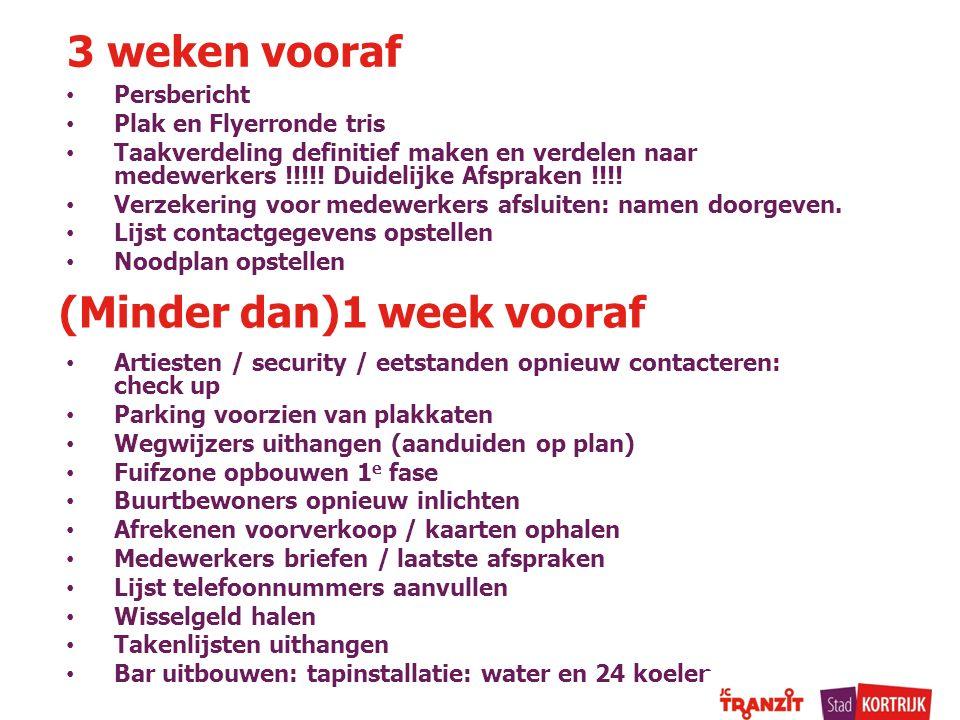Persbericht Plak en Flyerronde tris Taakverdeling definitief maken en verdelen naar medewerkers !!!!! Duidelijke Afspraken !!!! Verzekering voor medew