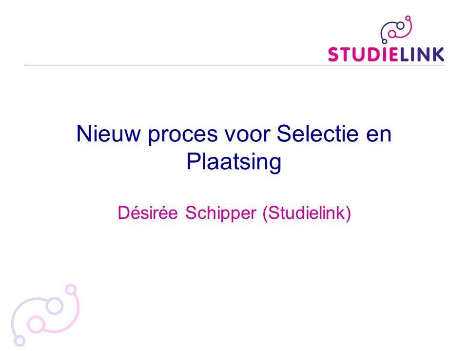 Nieuw proces voor Selectie en Plaatsing Désirée Schipper (Studielink)