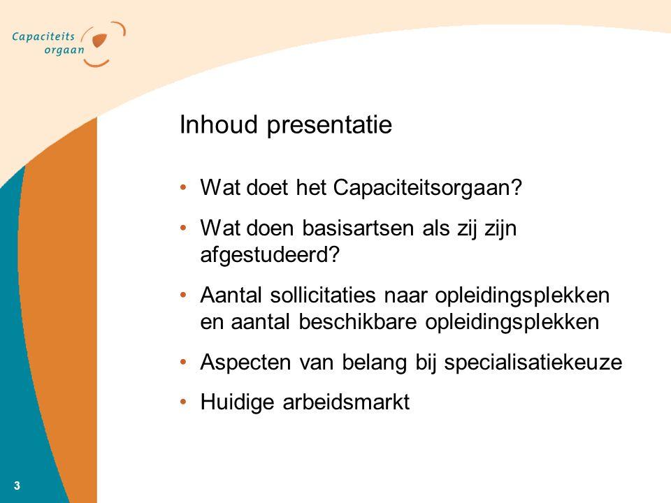 Inhoud presentatie Wat doet het Capaciteitsorgaan.