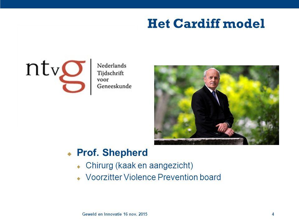 Geweld en Innovatie 16 nov. 20154 Het Cardiff model  Prof.