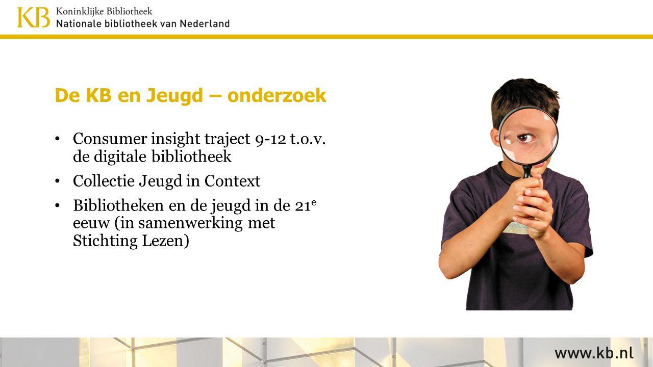 De KB en Jeugd – onderzoek Consumer insight traject 9-12 t.o.v.
