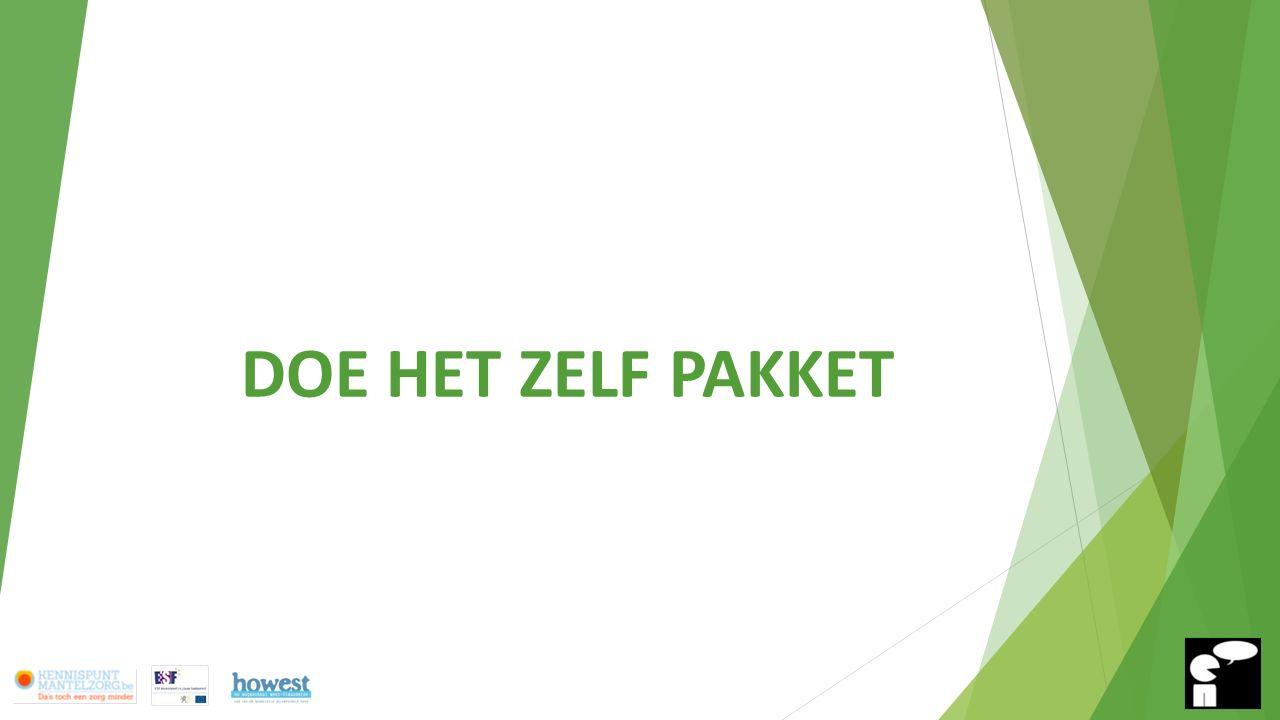 Doe-het-zelfpakket Thema 6: Waaraan wil ik het liefst voorrang geven: werk en/of mantelzorg.